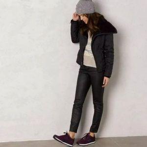 PRANA Black Jet Coated Wet Look Organic Jeans 6/28